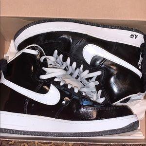"""Men Nike AF11 """"sheed"""" black/white Patent size 11.5"""
